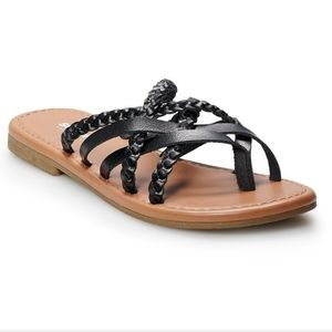 Sonoma Doberman Women's Sandals, Size Large (9/10)